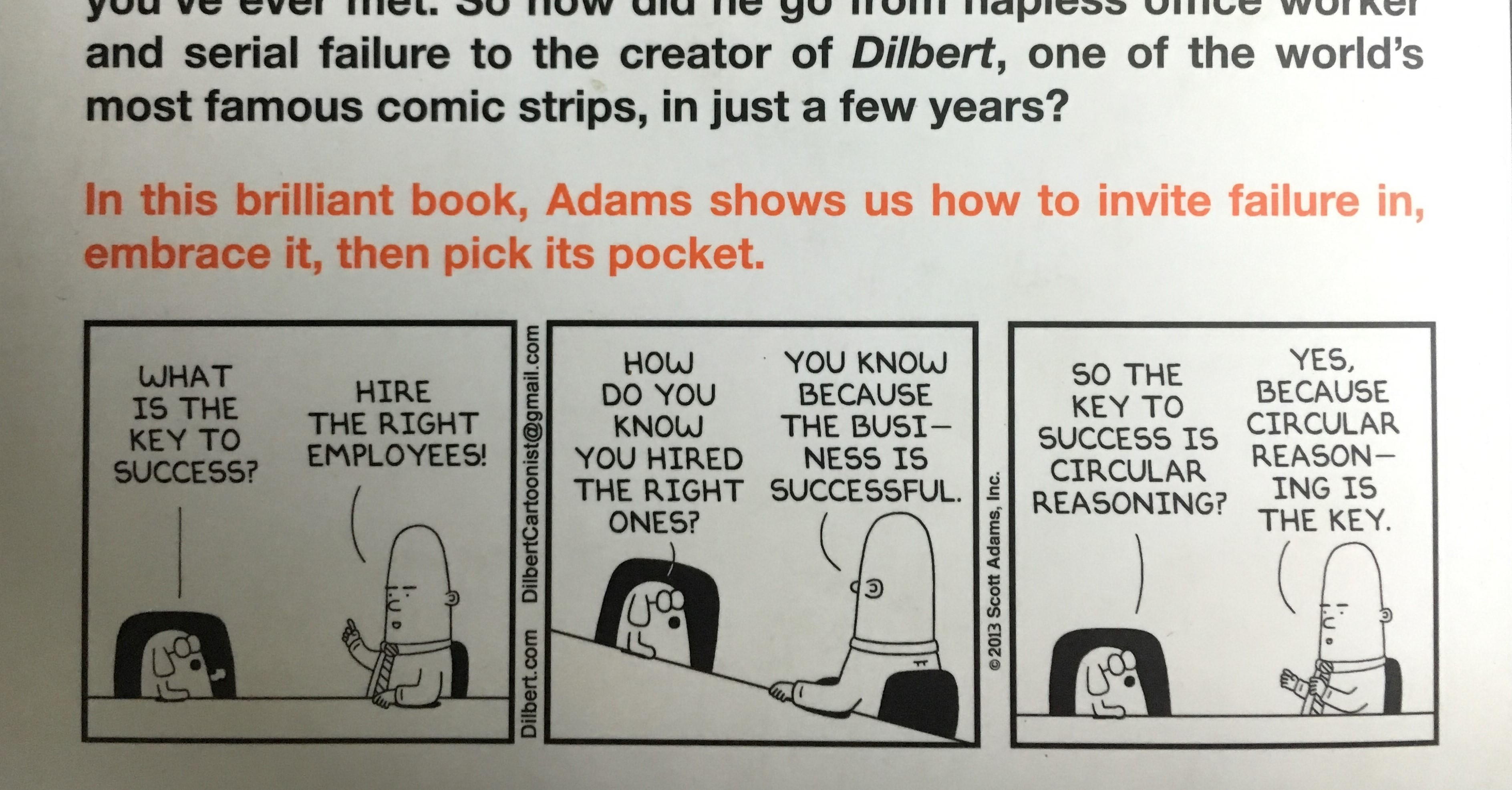 'How to Fail at Almost Everything and Still Win Big' by Scott Adams